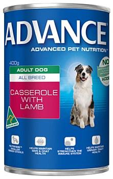 Advance Adult All Breed Lamb Casserole 400g Wet Dog Food