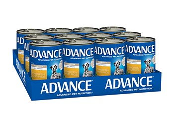 Advance Adult All Breed Sensitive Chicken and Rice 410g x 12 Wet Dog Food