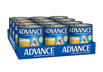 Advance Adult All Breed Weight Control Chicken and Rice 700g x 12 Wet Dog Food