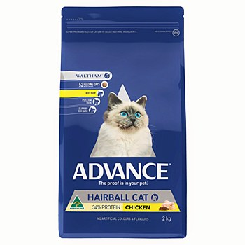 Advance Adult Cat Hairball Chicken 2kg Dry Cat Food