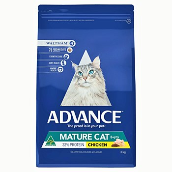 Advance Mature Cat Chicken 3kg Dry Cat Food