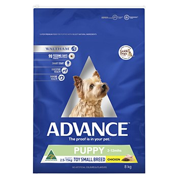 Advance Puppy Toy Small Breed Chicken 8kg Dry Dog Food