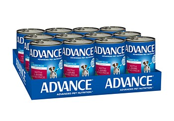 Advance Puppy Lamb and Rice 410g x 12 Wet Dog Food
