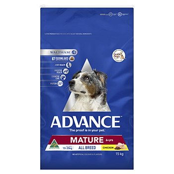 Advance Mature All Breed Chicken 15kg Dry Dog Food