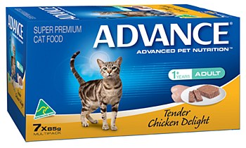 Advance Adult Cat Tender Chicken Delight 7x85g Wet Cat Food