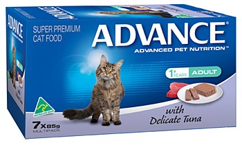 Advance Adult Cat with Delicate Tuna 7x85g Wet Cat Food