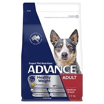 Advance Adult All Breed Weight Control Chicken 2.5kg Dry Dog Food