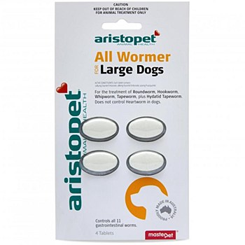 Aristopet All Wormer Tablets for Large Dogs (4 Pack)