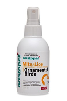 Aristopet Mite and Lice Spray for Ornamental Birds 125ml
