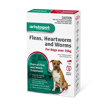Aristopet Topical Flea & Worm Treatment For Dogs over 25kg (3 Pack)