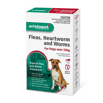 Aristopet Topical Flea & Worm Treatment For Dogs over 25kg (6 Pack)