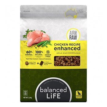 Balanced Life Chicken Recipe with Air Dried Chicken Pieces 2.5kg Dry Dog Food