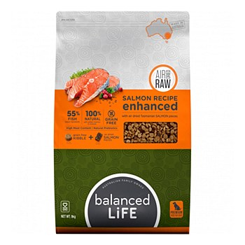 Balanced Life Salmon Recipe with Air Dried Salmon Pieces 9kg Dry Dog Food