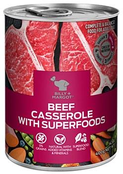 Billy + Margot Beef Casserole With Superfoods 400g Wet Dog Food
