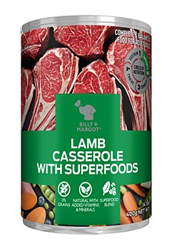 Billy + Margot Lamb Casserole With Superfoods 400g Wet Dog Food