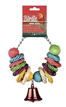 Birdie Rainbow Circles Bird Toy