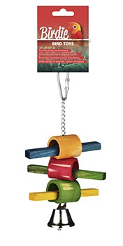 Birdie Stick and Ring with Bell Bird Toy