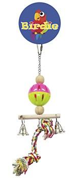 Birdie Wicker Man with Bells Small Bird Toy