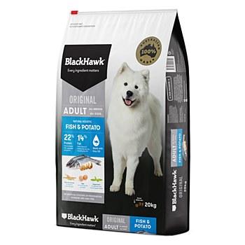 BlackHawk Adult Fish & Potato 20kg Dry Dog Food