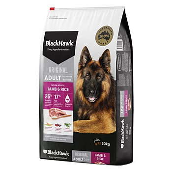 BlackHawk Adult Lamb & Rice 20kg Dry Dog Food
