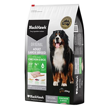 BlackHawk Adult Large Breed Chicken & Rice 20kg Dry Dog Food