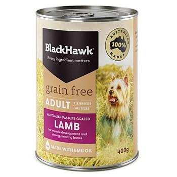 BlackHawk Adult Grain Free Lamb 400g X 12 Wet Dog Food