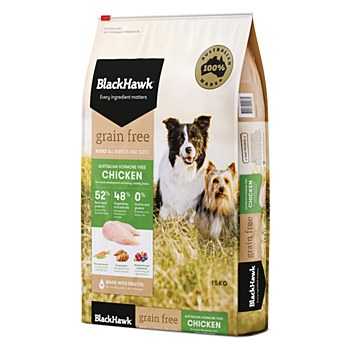 BlackHawk Adult Grain Free Chicken 15kg Dry Dog Food