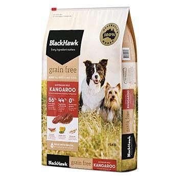 BlackHawk Adult Grain Free Kangaroo 15kg Dry Dog Food