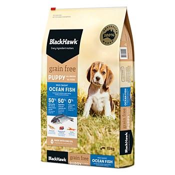 BlackHawk Puppy  Grain Free Ocean Fish 15kg Dry Dog Food