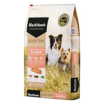 BlackHawk Adult Grain Free Salmon 15kg Dry Dog Food