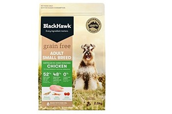 BlackHawk Adult Small Breed Grain Free Chicken 2.5kg Dry Dog Food