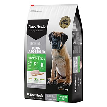BlackHawk Puppy Large Breed Chicken & Rice 20kg Dry Dog Food