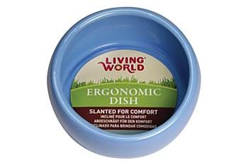 Living World Ergonomic Dish for Small Pets Blue Small