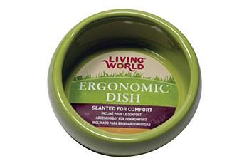 Living World Ergonomic Dish for Small Pets Green Large