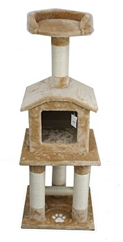 Montys 1 House 1 Platform 108cm Cat Scratch Post