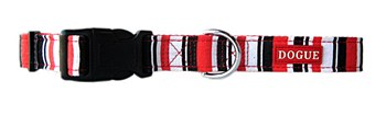 Dogue Dog Collar Striped Medium Red