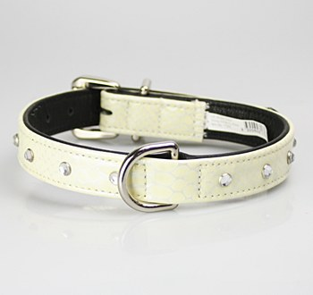 Petlife Dog Collar with Jewels Extra Large 60cm Snow White