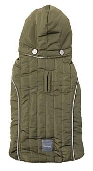 FuzzYard Dog Coat Oslo Khaki Green 30 - 33cm