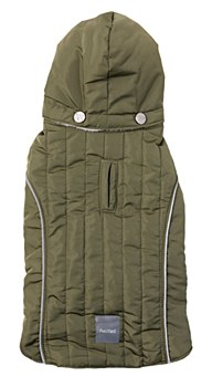 FuzzYard Dog Coat Oslo Khaki Green 40- 41cm
