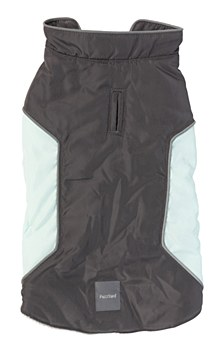 FuzzYard Dog Coat Pac Jacket Charcoal & Mint Size 4