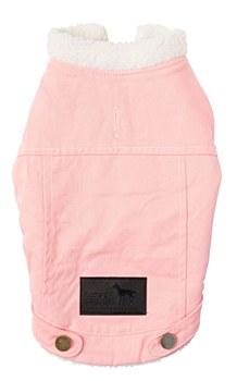 FuzzYard Dog Coat Jacket Rebel Pink Denim 45 - 46.4cm