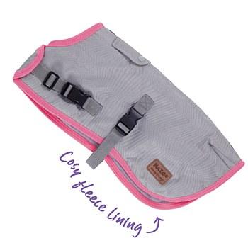 Kazoo Dog Coat Active Adventure Silver & Pink 53cm