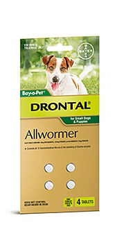 Drontal All Wormer for Small Dogs and Puppies (4 Pack)