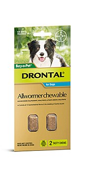 Drontal All Wormer for Medium Dogs (2 Pack)
