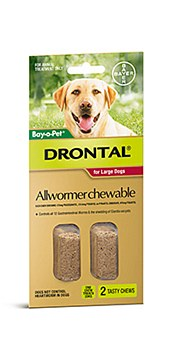 Drontal All Wormer for Large Dogs (2 Pack)
