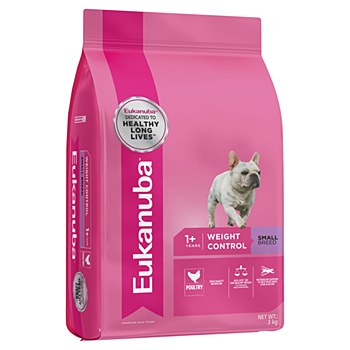 Eukanuba Adult Small Breed Weight Control 3kg Dry Dog Food