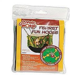 Living World Ferret Fun House Green 35cm Small Pet Toy