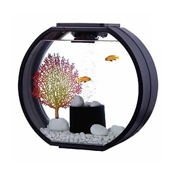 Blue Planet Deco O Black 10 Litre Mini Fish Tank
