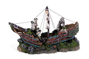Kazoo Fish Tank Ornament Galleon with Sails Medium