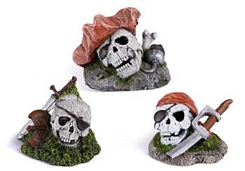 Kazoo Fish Tank Ornament Pirate Skull Mini